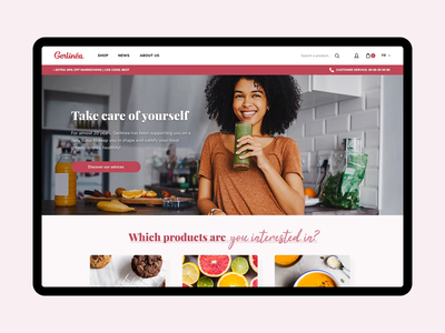 Gerlinéa Website gerlinea website ui transition smooth sketch food dietetic principle magento home ecommerce dnd desktop design animation agence