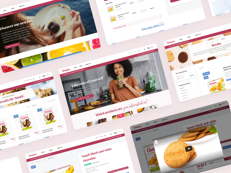 Gerlinéa Website website ui transition smooth sketch principle magento home gerlinea food ecommerce dnd dietetic desktop design animation agence