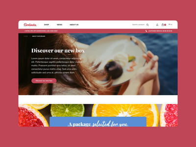 Gerlinéa Website cms website ui transition smooth sketch principle magento home gerlinea food ecommerce dnd dietetic desktop design animation agence