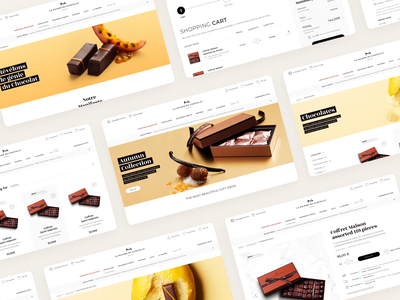 Maison du Chocolat Website agence design desktop dnd ecommerce food maison chocolat home magento sketch ui website mobile responsive product
