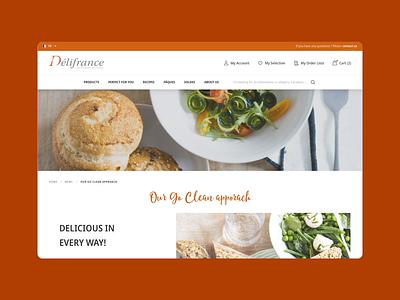 Délifrance Website frozen bakery product responsive mobile website ui sketch magento pastry croissant délifrance viennoiserie ecommerce dnd desktop design agence