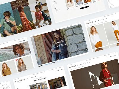 Hartford Website agence design dnd ecommerce home magento sketch ui wear essentials hartford website mobile responsive