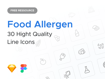 Free Food Allergen Icons fruit vegetable nuts peach pork potato sesame shrimp bean wheat pack allergen food ecommerce agence dnd icon