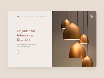 Antic • Decoration Landing Page website responsive dnd agence ecommerce desktop mobile ui carousel bootstrap figma onepage landing furniture design decoration antic