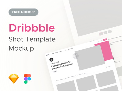 Dribbble • Shot Template Mockup page dribbble shot free user desktop sketch figma ressource template mockup freebies uiux uidesign agence dnd