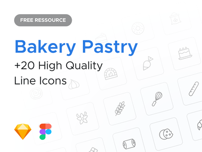 Free Bakery Pastry Icons free ecommerce flour vanilla cake thermometer bag meringue oven whip cookie bakery pastry croissant chocolate toast icon pack dnd agence