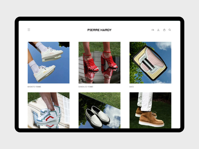 Pierre Hardy Website shoes shop accessories bag store hardy pierre ui website design magento ecommerce agence dnd