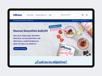biManán Website item product food bimanan sketch principle animation desktop page home website ui design magento ecommerce agence dnd