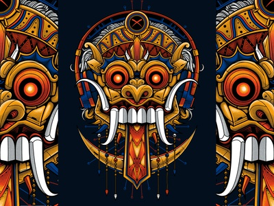Bali Barong Illustration