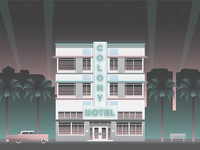 Nighttime at the Colony Hotel