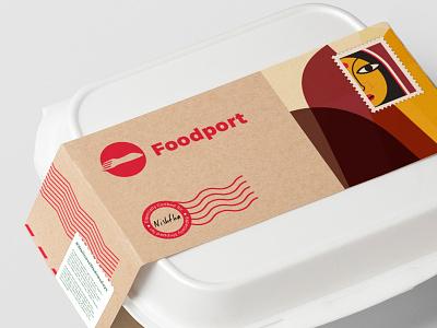 Foodport Packaging delivery food startup india gurgaon logo branding brand foodport