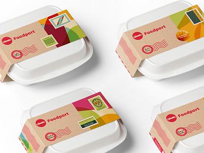 Foodport Modular Packaging delivery food startup india gurgaon logo branding brand foodport