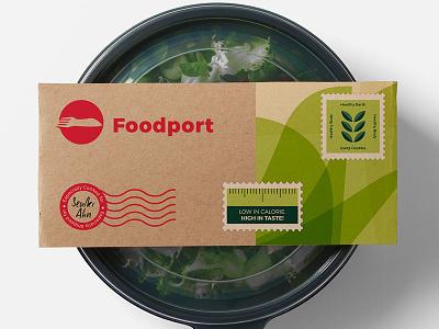 Foodport Salad Packaging delhi greens salad delivery food startup india gurgaon logo branding brand foodport