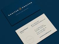 Khaitan & Khaitan Businesscards