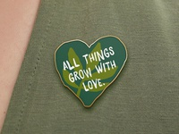 Pin Heart - Community Gardens