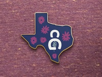 Pin - Grown In Texas - for Community Gardens