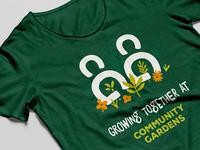 T-shirt Design - Community Gardens