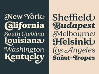Bogue type family type design typeface typedesign font typography type