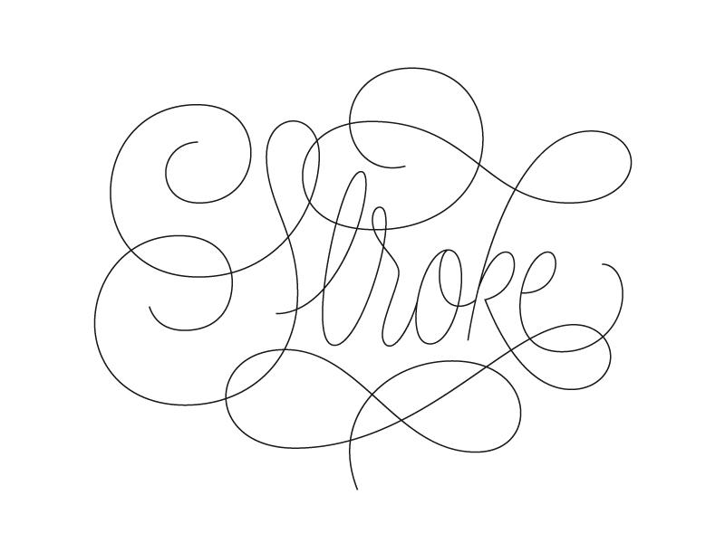 Stroke lettering typography script
