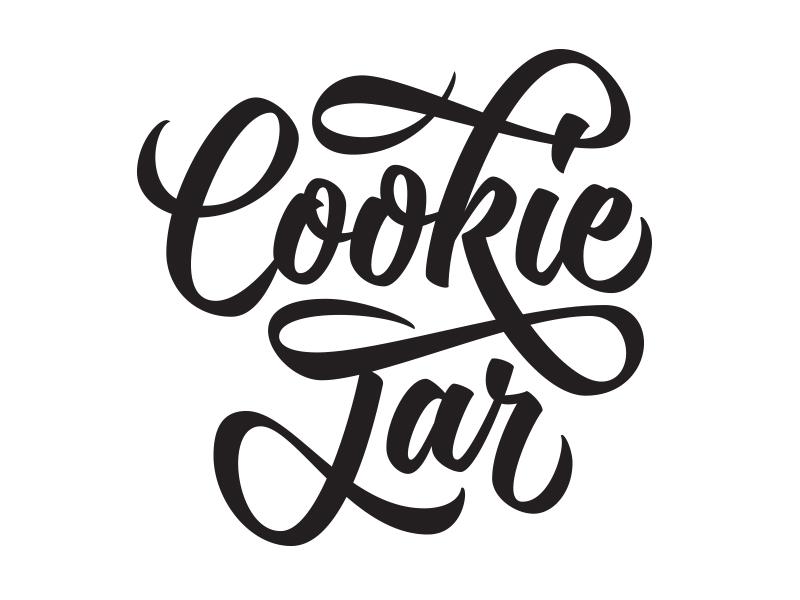 Cookie Jar typography brush script lettering