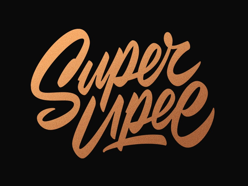Super Upee -lettering brush script type logo typography lettering