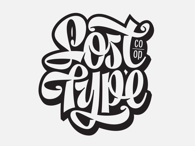 Lost Type -lettering lost type t-shirt branding brand script type logo typography lettering