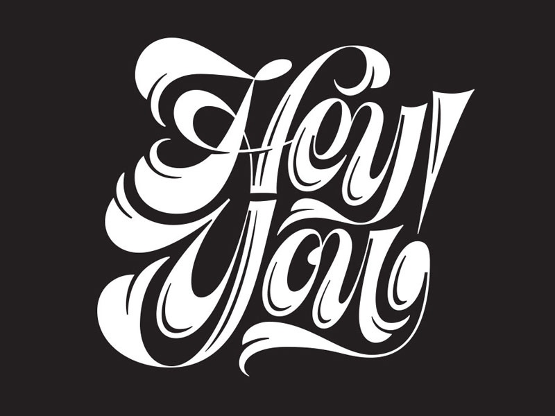 Hey You! -lettering script type logo typography lettering