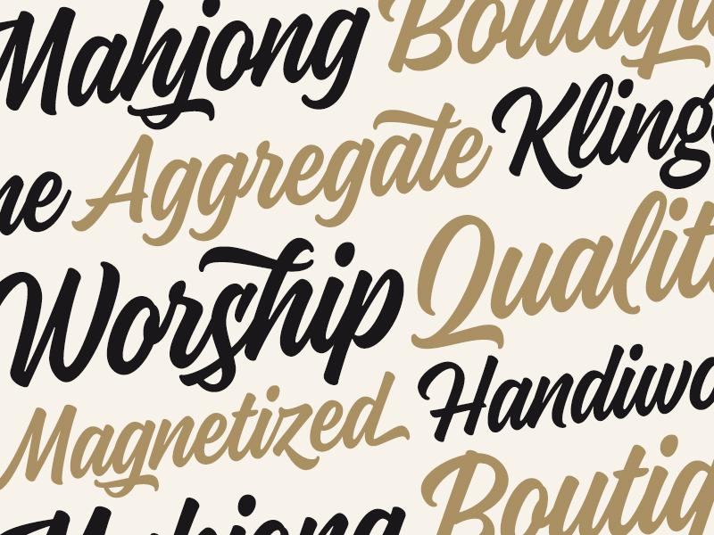 Kaleidos Typeface font typeface lettering type script brush typography