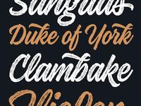 Kaleidos Rough Typeface