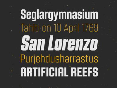 Kuunari Type Family sans-serif sans serif sans font typeface type typography
