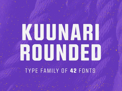 Kuunari Rounded Type Family sans-serif sans serif sans font typeface type typography