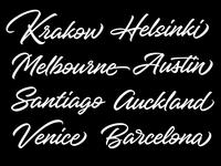 Hangbird typeface