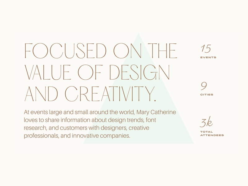 brand + identity for mary catherine productmanager speaker baker portfolio webdesign semplice website design website ui web brand design bsds type logo identity branding typography