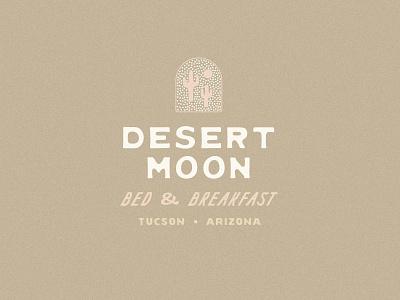 desert moon b&b tucson arizona cacti cactus moon desert experiment design logo identity branding type typography