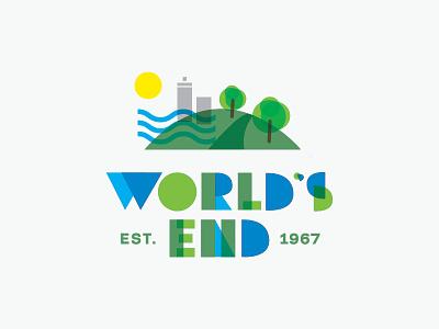 World's End logo massaschusetts logo branding nature hingham park adventure