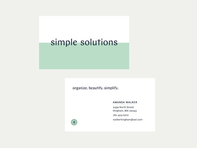 Simple Solutions business cards