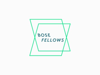 Unused Bose Fellows logo concept design graveyard direction window perspective planes shifting neon concept unused brand identity logo