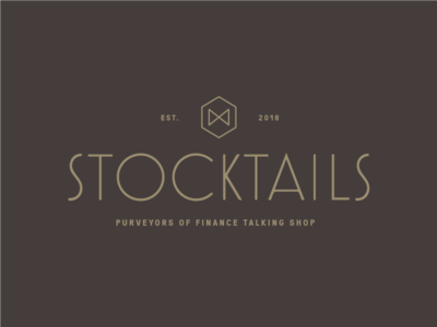 Stocktails identity financial noir 1920s speakeasy gold deco art deco identity meetup roaring 20s finance 20s logo