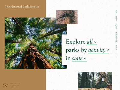 BSDS Challenge No. 4: National Parks + Crimson Text typography challenge search parks nps national parks hero web bsdsthunderdome bsds