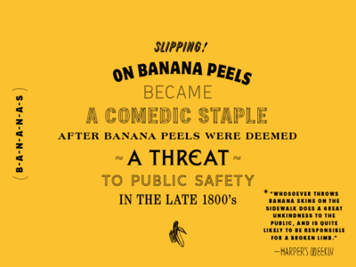 BSDS Challenge No. 5: Fun Fact + FPHS Typefaces challenge yellow comedic banana bananas bsdsthunderdome bsds typography