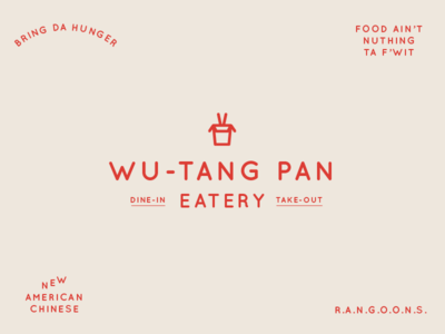 BSDS Challenge No. 5: Chinese Food + Quicksand logo branding quicksand eatery food wu-tang clan wu-tang rangoons take-out chinese food bsds typography