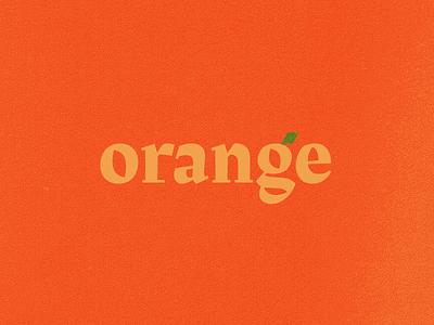 BSDS Challenge No. 3: Orange + Rakkas clean minimal challenge leaf oranges texture type orange typography bsds