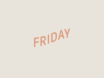 We made it~ distort skew typeface friyay fun experiment play type wave friday typography