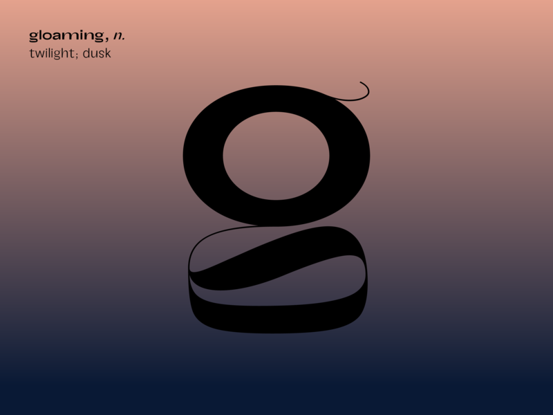 g for gloaming contrast challenge gradient play experiment bsdsthunderdome bsds type typography g