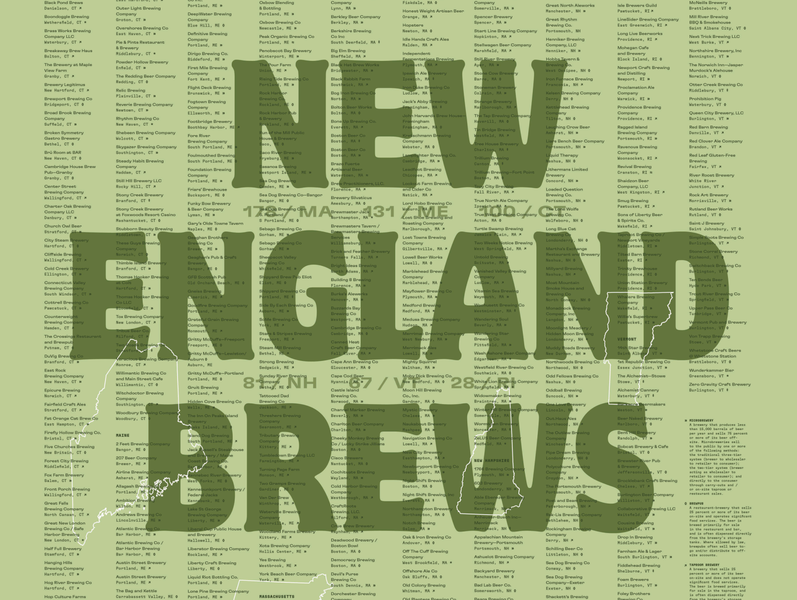 New England Brews, BSDS poster show poster breweries brewery beer type typography bsds