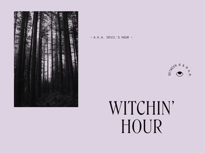 Witchin' Hour supernatural devil witches witching hour challenge experiment witchy witchin witch spooky type typography