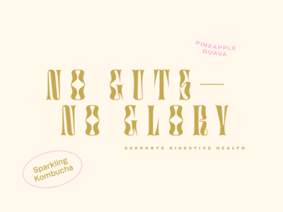 no guts—no glory sparking kombucha