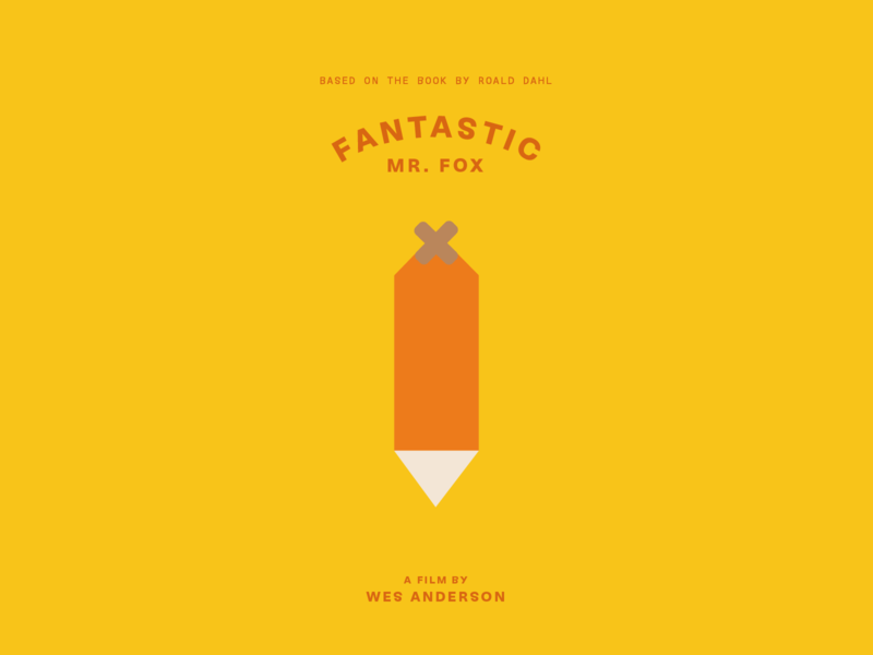 Fantastic Mr. Fox warmup movies minimal bandaid tail roalddahl fantasticmrfox fantastic fox wesanderson movie identity design type experiment challenge weeklywarmup icon branding typography