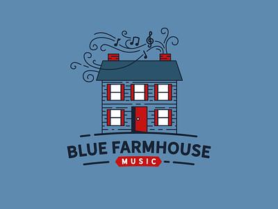 Blue Farmhouse Music Logo notes farmhouse teacher music