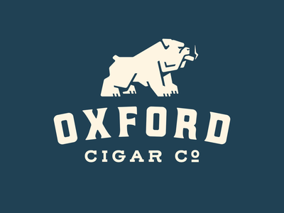 Oxford Cigar Co Logo branding cigar oxford bulldog